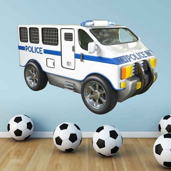 Stickers for Kids: Police van