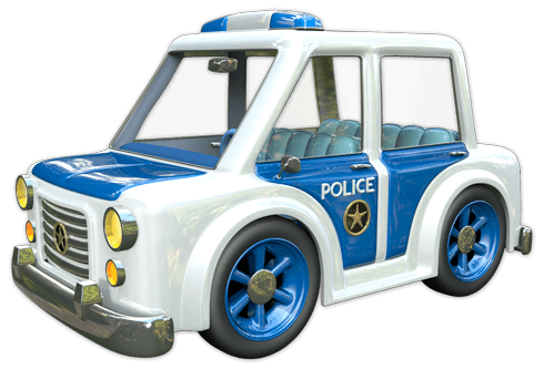 Stickers for Kids: Police Car
