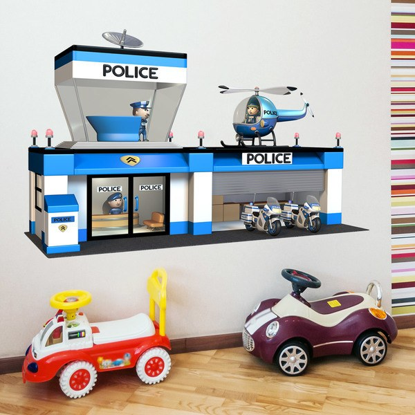 Stickers for Kids: Police Station