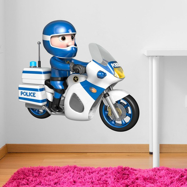 Stickers for Kids: Motorbike Police
