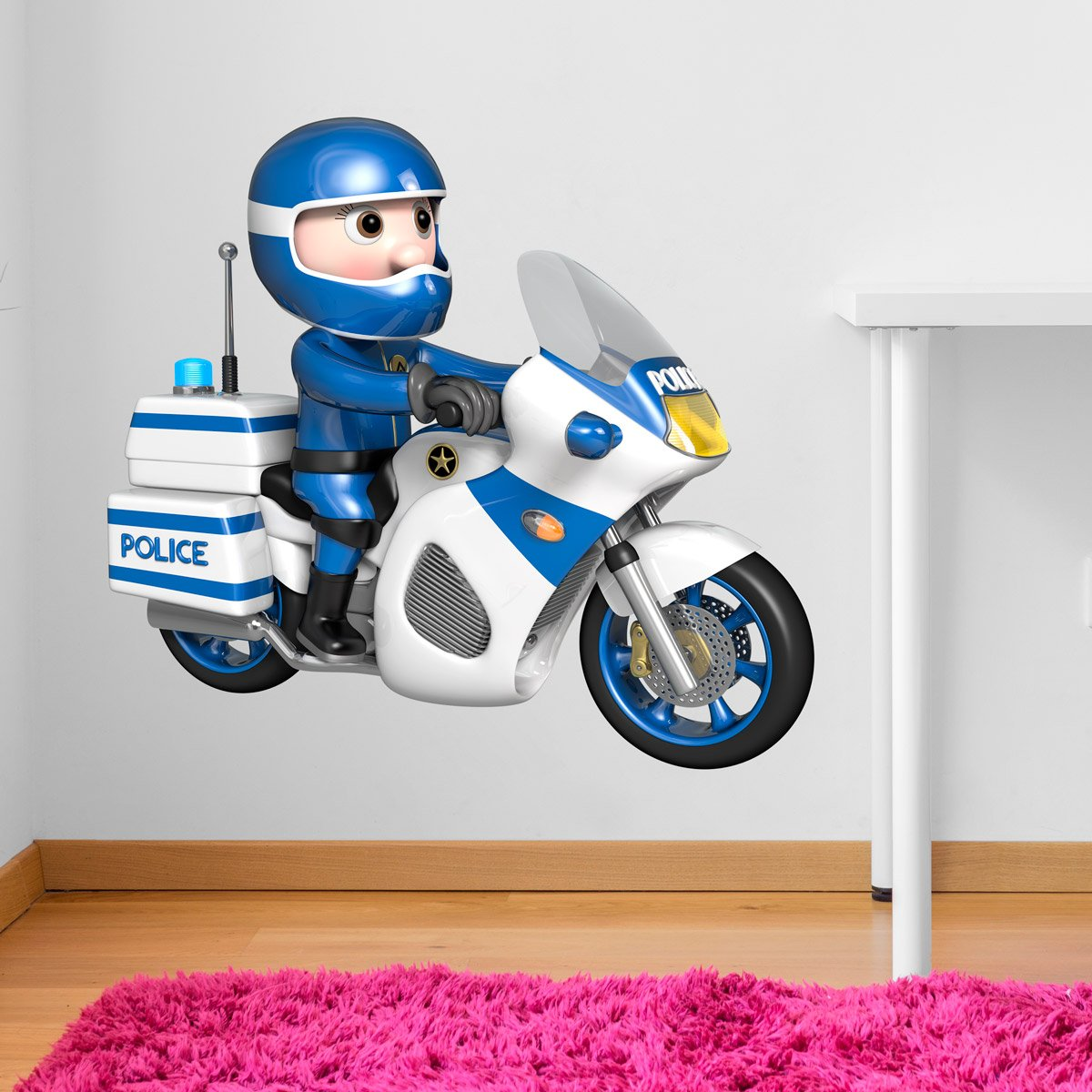 Stickers for Kids: Motorcycle Police