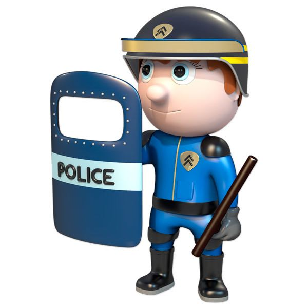 Stickers for Kids: Riot police