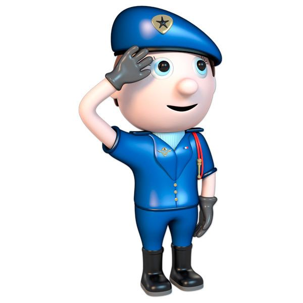 Stickers for Kids: Police saluting 1