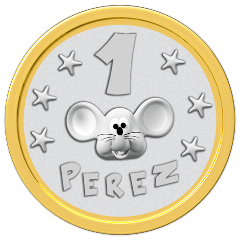 Stickers for Kids: Coin mouse Perez