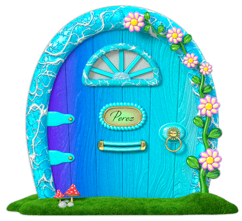 Stickers for Kids: Blue door mouse Perez