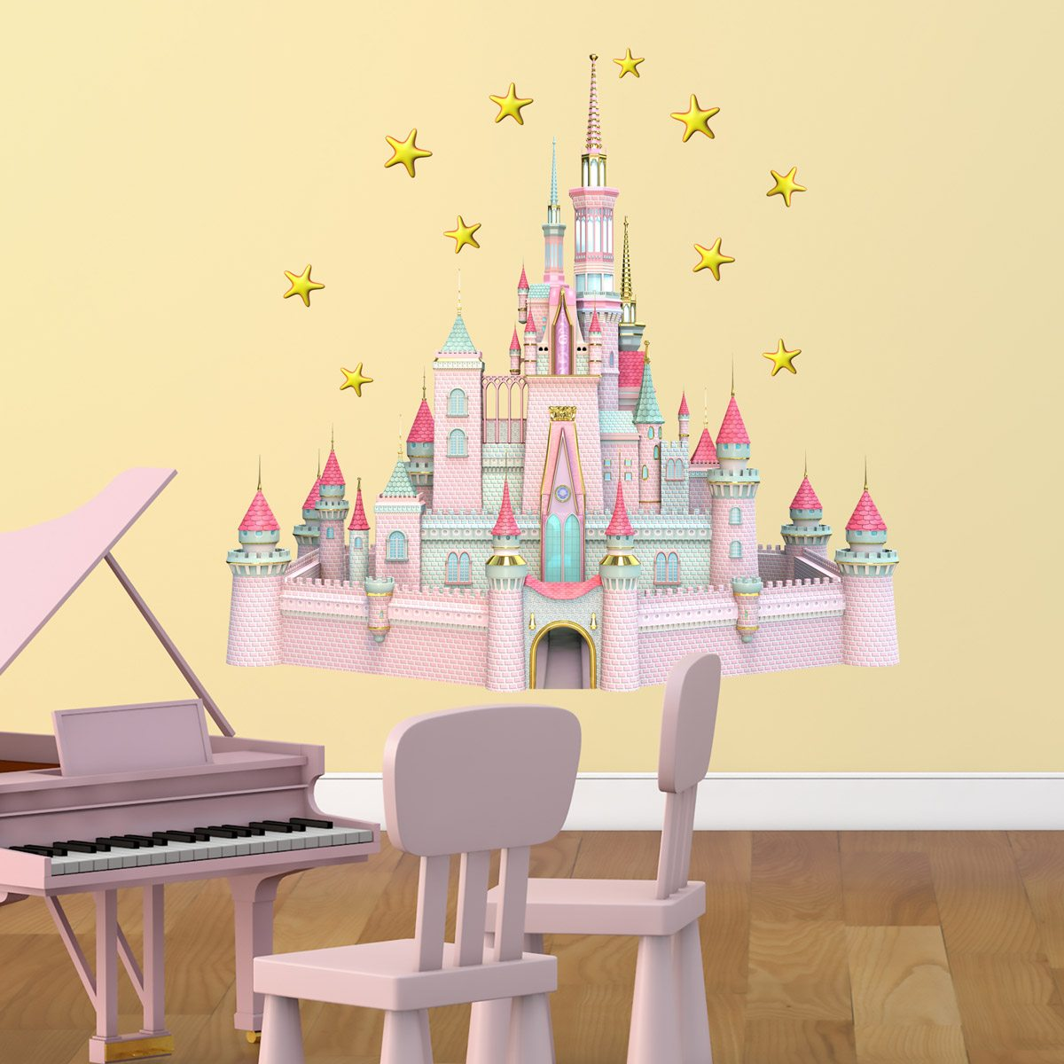 Fantastic Disney Castle Wall Art Photo - The Wall Art Decorations ...