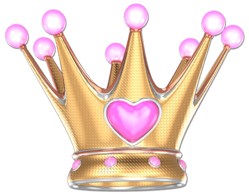 Stickers for Kids: Crown pink heart