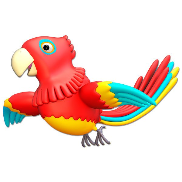 Stickers for Kids: Parrot flying
