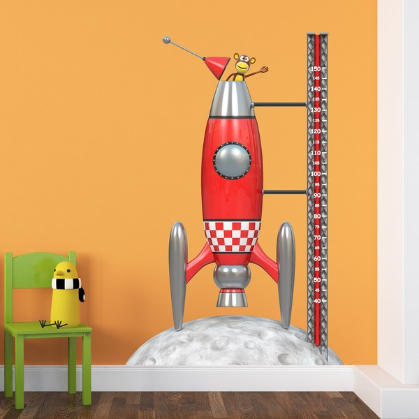 Stickers for Kids: Height Chart Space rocket