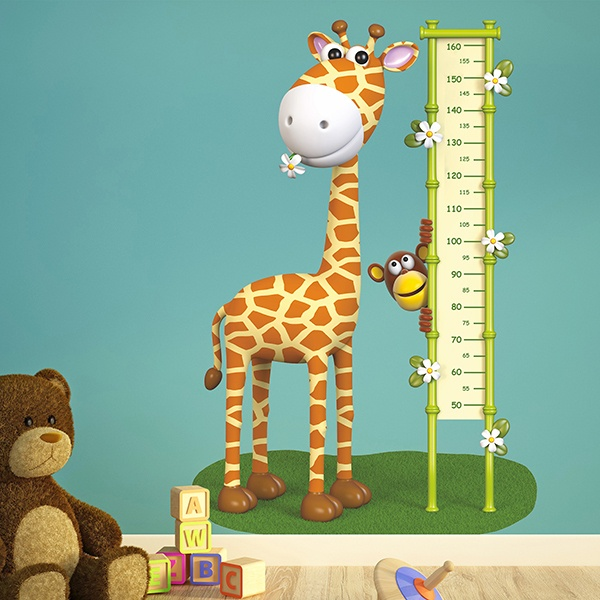 Stickers for Kids: Kid's meter happy giraffe