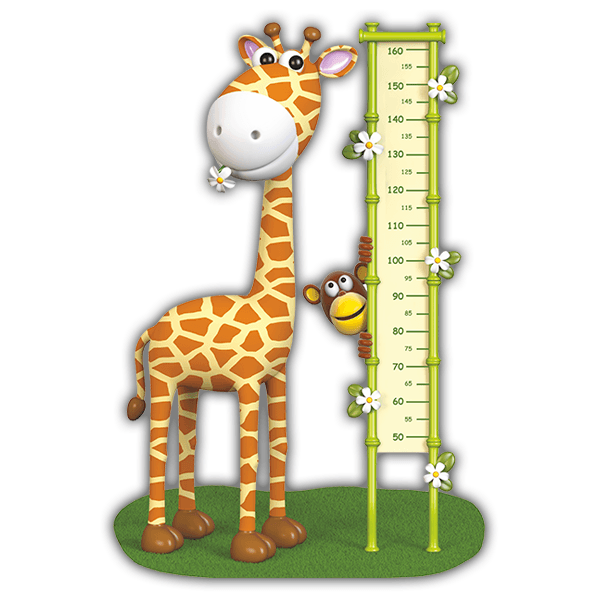 Stickers for Kids: Growth Chart giraffe Color