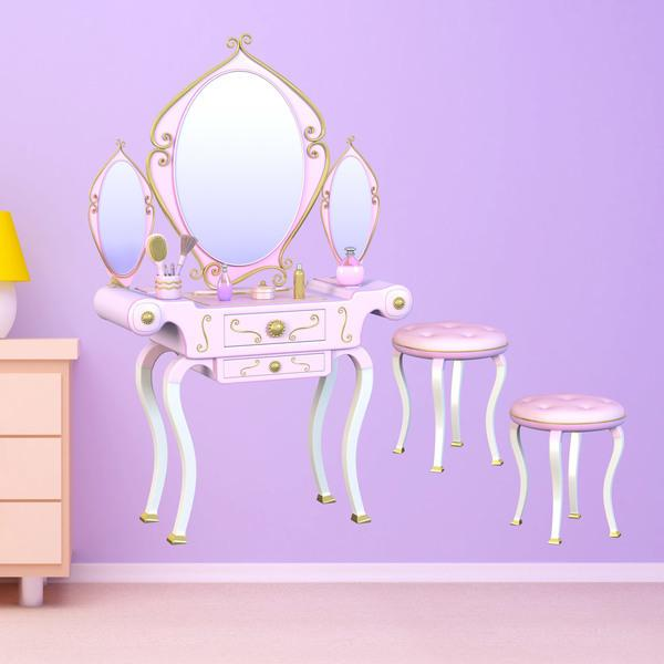 Stickers for Kids: Dressing table and stools Ballerinas