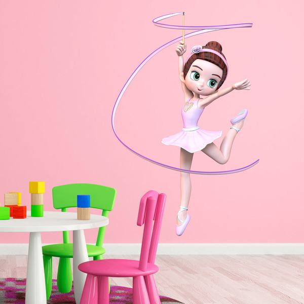 Stickers for Kids: Ballet Dancer, Ribbon