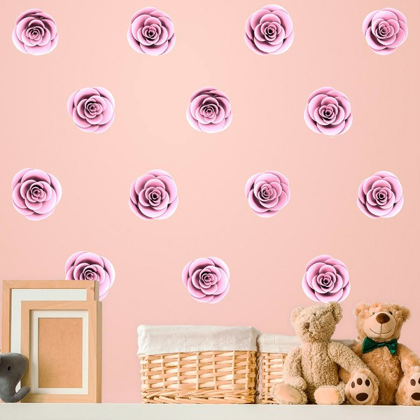 Stickers for Kids: Kit 16 roses