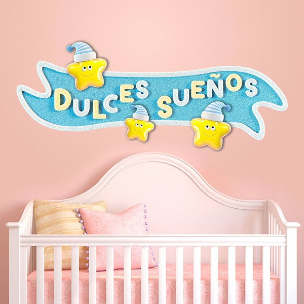 Stickers for Kids: Sweet dreams sign