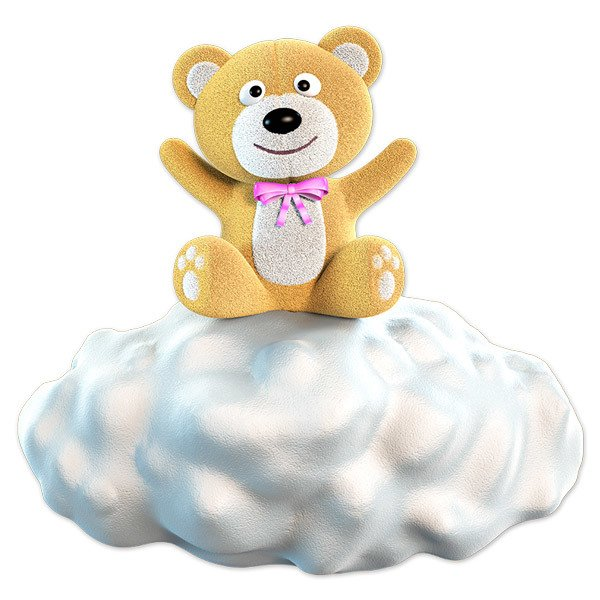Stickers for Kids: Brown bear on the cloud
