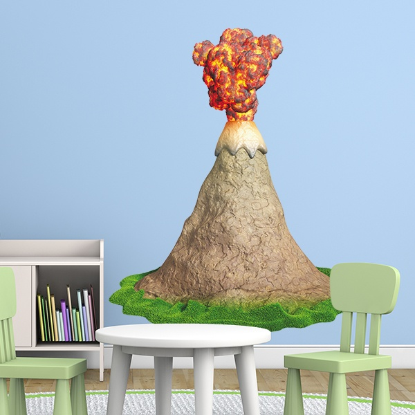 Stickers for Kids: Volcano in eruption