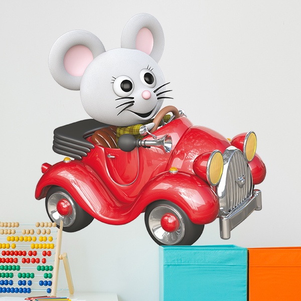 Stickers for Kids: Driver mouse