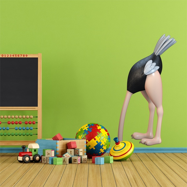 Stickers for Kids: Hidden Ostrich
