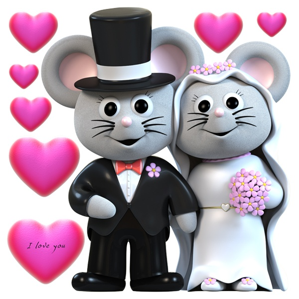 Stickers for Kids: Wedding mice