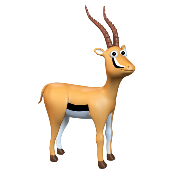 Stickers for Kids: Antelope