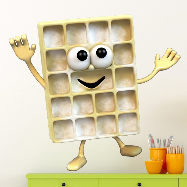 Stickers for Kids: waffle 1