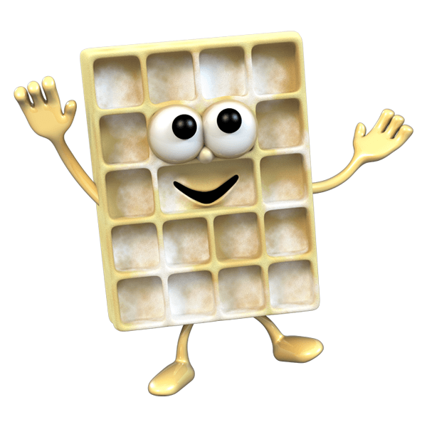 Stickers for Kids: waffle 0