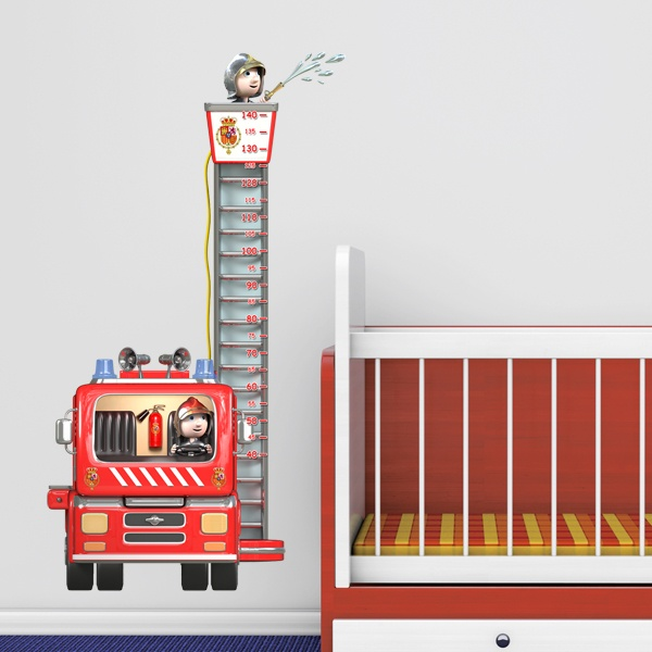 Stickers for Kids: Height Chart Firefighters