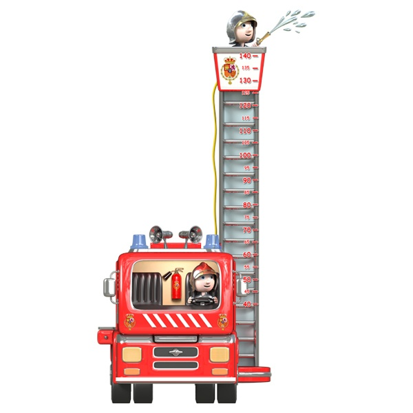 Stickers for Kids: Fire meter