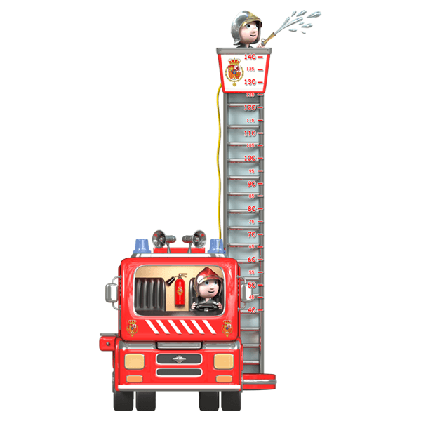 Stickers for Kids: Height Chart Firefighters 0