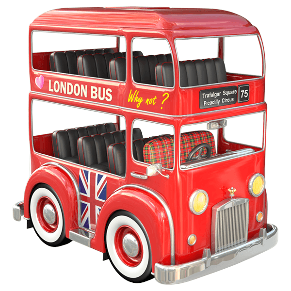 Stickers for Kids: Bus London