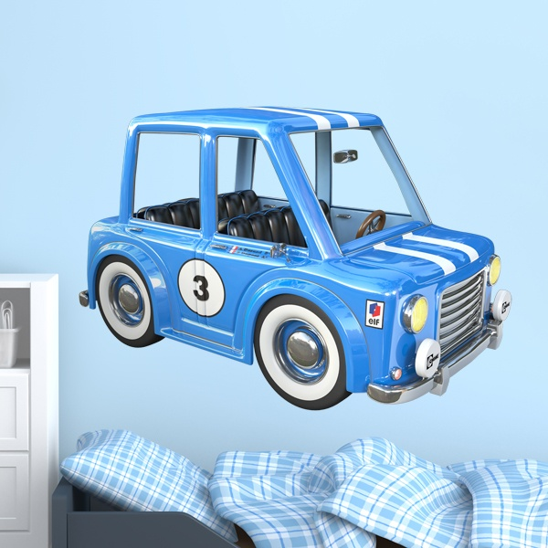 Stickers for Kids: Mini car