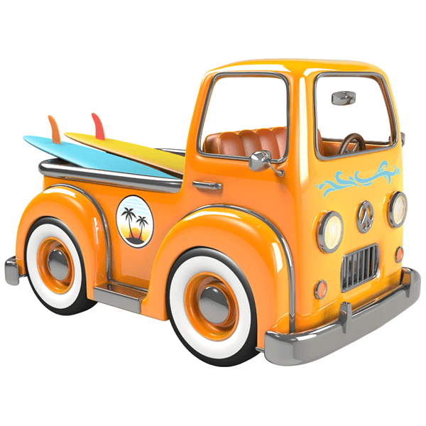 Stickers for Kids: Surf Truck
