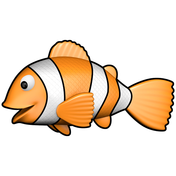 Stickers for Kids: Clown fish swimming