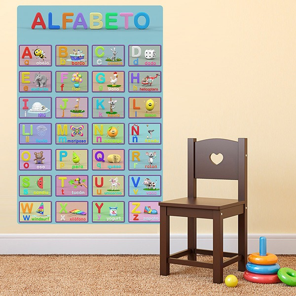 Stickers for Kids: Alphabet kid poster