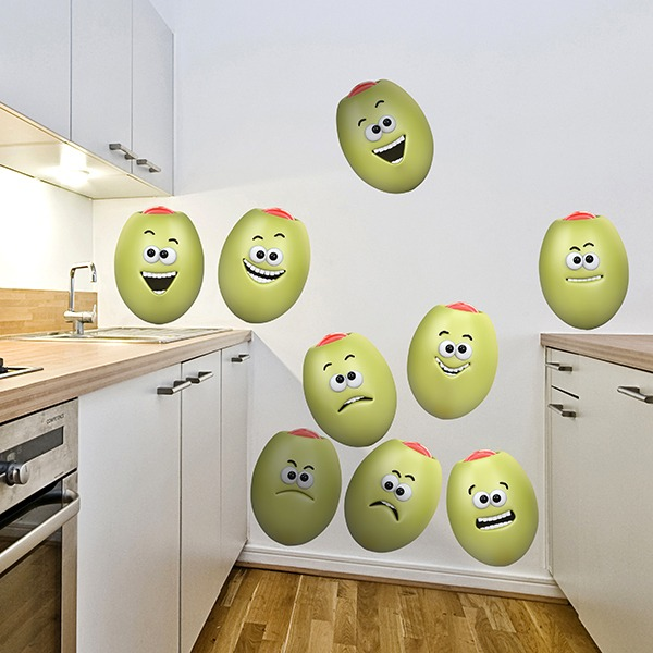 Stickers for Kids: Stuffed olives