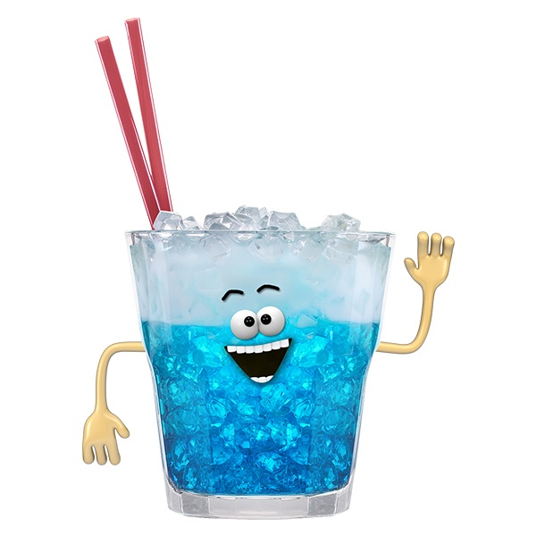 Stickers for Kids: Blue Lagoon Cocktail