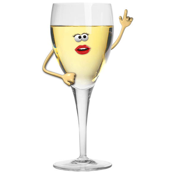 Stickers for Kids: White wine