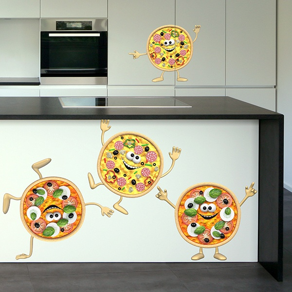 Stickers for Kids: Mini Pizzas