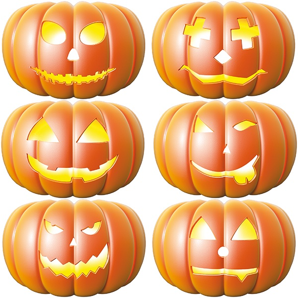 Wall Stickers: Halloween Pumpkin Kit