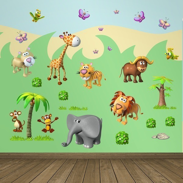 Stickers for Kids: Animals of the African jungle