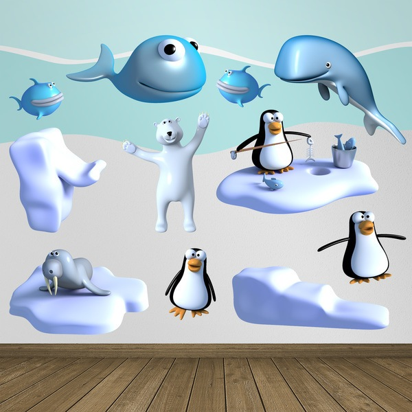 Stickers for Kids: Kit Animals on the ice