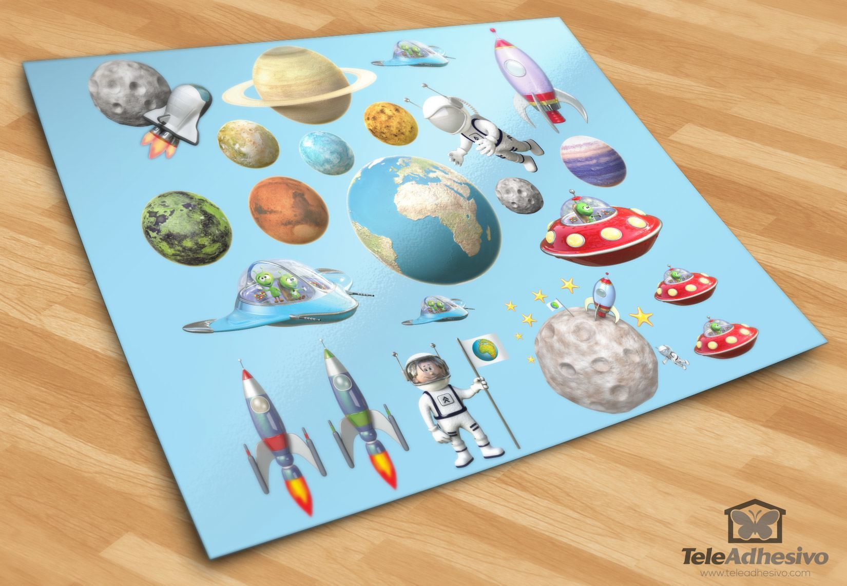 Stickers for Kids: Space Kit