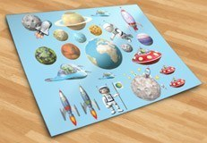 Stickers for Kids: Space Kit 5