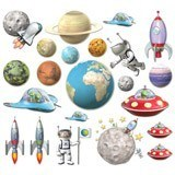 Stickers for Kids: Space Kit 6