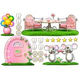 Stickers for Kids: Kit Tooth Fairy (Mouse Pérez) Pink 3