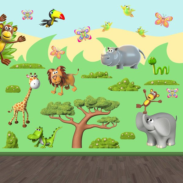 Stickers for Kids: Jungle Animals Kit