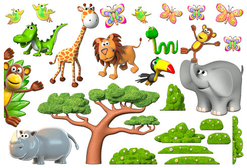 Stickers for Kids: Animals of the African jungle 2 0