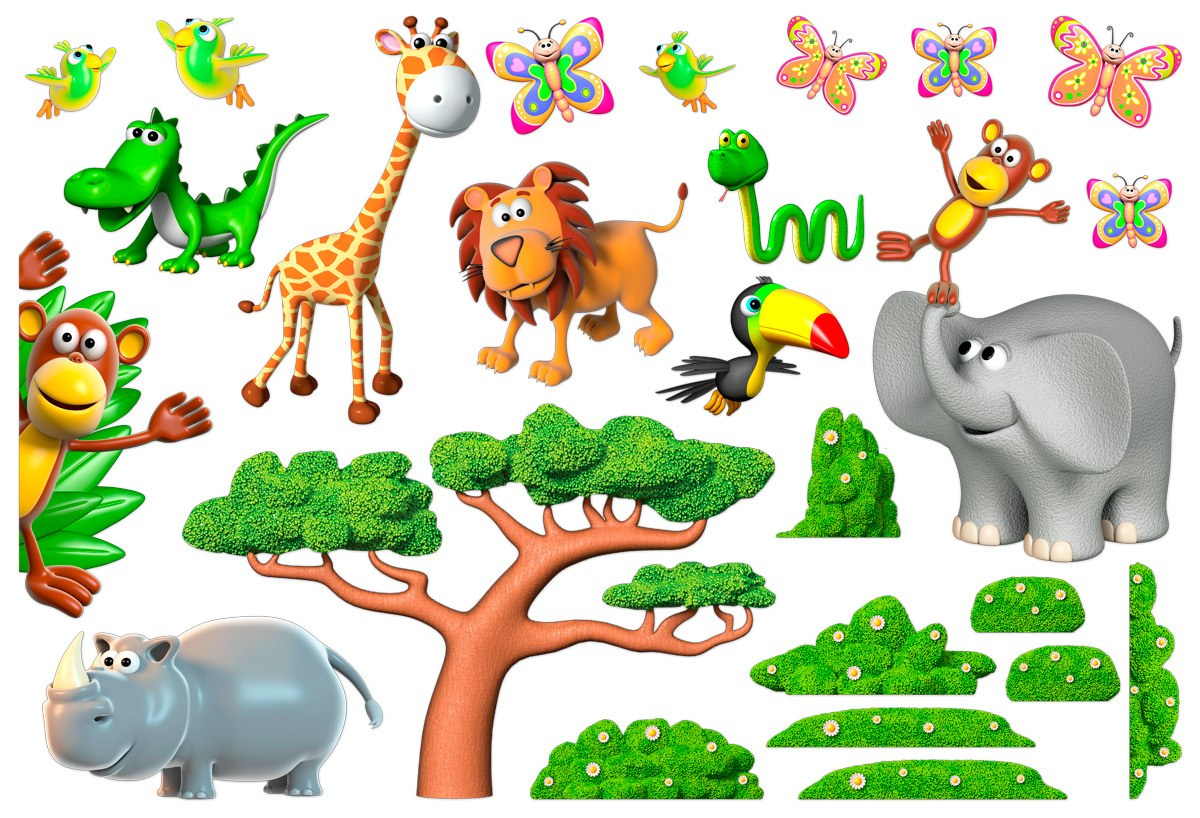 Stickers for Kids: Animals of the African jungle 2