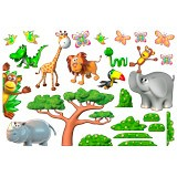 Stickers for Kids: Animals of the African jungle 2 3